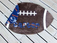 Check out this item in my Etsy shop https://www.etsy.com/listing/222635584/denver-broncos-minky-football-blanket  Cheer on the Denver Broncos with this snugly soft baby blanket!  Adult sizes available too!   #denverbroncosbaby #footballbabyblanket #LovePitterPatter