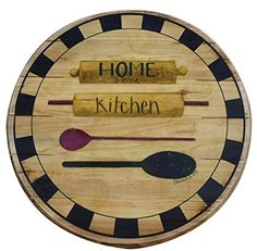 Amazon.com: Boston Warehouse Hand Crafted Wood Lazy Susan and Turntable, Home Is In The Kitchen: Home & Kitchen