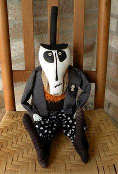 Skeleton Doll Primitive Skeleton Doll Halloween by Handofbelapeck, $55.00