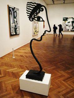 Archaic Head VI, 1988. Roy Lichtenstein Art Exhibition currently displayed at The Art Institute of Chicago.