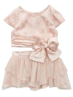 Blush+Lace+Sparkle+Tulle+Top+&+Skirt+Set 12+to+24+Months Now+in+Stock