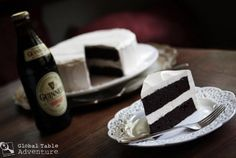 dark chocolate guiness cake with bailey's buttercream