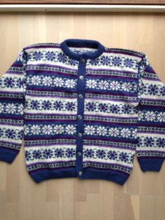 Kofter for store og små Fair Isle Knitting, Hand Knitting, Norwegian Knitting, How To Make, How To Wear, Sweaters, Kids, Clothes, Fashion