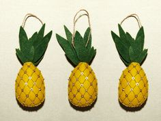 Felt Pineapple Ornament by lovefrombrooklyn on Etsy