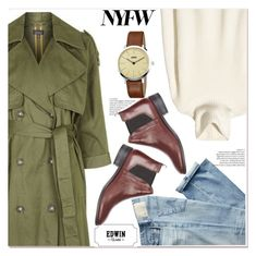 """""""Pack for NYFW"""" by paculi ❤ liked on Polyvore featuring Topshop, AG Adriano Goldschmied, KENNY, NYFW, BoldStripes, EdwinWatch and zlabwatch"""