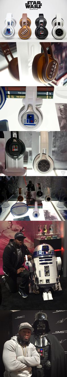 "50 Cent Joins Forces With SMS Audio to Release a Second Edition of 'Star Wars'-Themed Headphones Rapper, entrepreneur, and actor Curtis James Jackson III (a.k.a. ""50 Cent"") has joined forces with SMS Audio once again to release a second edition of Star Wars-themed on-ear headphones in May 2015. Read More: http://laughingsquid.com/50-cent-joins-forces-with-sms-audio-to-release-a-second-edition-of-star-wars-themed-headphones/"