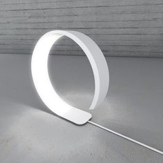 Pureness - Corian lamp with flexible LEDs designed by Simone Savini. Cool Lighting, Modern Lighting, Lighting Design, Diy Design, Modern Design, Design Ideas, Deco Led, Lamp Inspiration, Cool Lamps