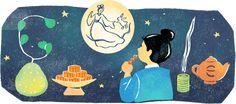 2020 中秋節20201001 Taiwan, Happy Mid Autumn Festival, Autumnal Equinox, Google Doodles, Moon Cake, Cool Pins, Full Moon, Night Skies, Harvest