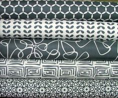Fat Quarter Bundle of Shades of Black in by SistersandQuilters