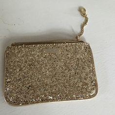 Kate Spade card holder Gold glitter Kate spade kate spade Bags Wallets