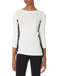 Lace & Dots Sweater from THELIMITED.com Polka Dots and Lace love!!!