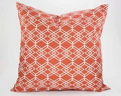 Diamond Pillow in Clementine from Southern Sisters Home