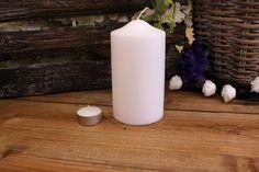 Κεριά Κυλινδρικά Λευκά Φ8x15εκ Pillar Candles, Taper Candles