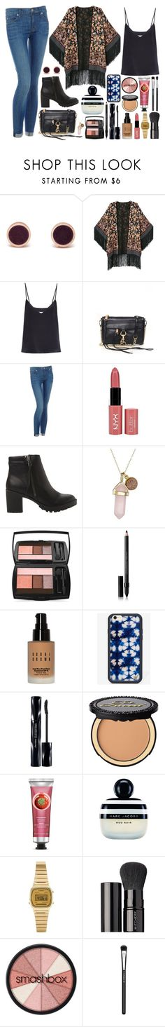 """""""Number 125"""" by charlee59 ❤ liked on Polyvore featuring Lola Rose, Raey, Rebecca Minkoff, Hudson Jeans, NYX, Steve Madden, Dee Berkley, Lancôme, Shiseido and Bobbi Brown Cosmetics"""