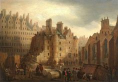 The Old Tolbooth of Edinburgh during demolition, 1817