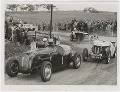 Doug Whiteford, 'Black Bess' Ford V8 Spl, Woodside, Adelaide October 1949 (State Library of SA)...