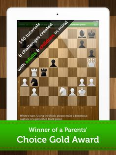 #FREE atm #Chess Academy for Kids 140 tutorials & challenges usually $6.49 HURRY #ipaded #mlearning #nswdec #ozteachers by Geek Kids by Next is Great  Chess Academy for Kids offers an easy introduction to chess.   *** 140 tutorials & challenges created with children in mind *** Learn basic moves & strategy (pieces' values, openings, etc.) *** Challenge your friends & parents *** Play chess against the computer *** Enjoy the rewarding progress tracker  *** HOURS OF FUN AND LEARNING ***
