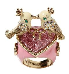 Betsey Johnson Love Birds Ring