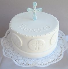 Whole pear cake - HQ Recipes Christian Cakes, Baptism Cupcakes, First Holy Communion Cake, Religious Cakes, Confirmation Cakes, Pear Cake, Cake Creations, Celebration Cakes, Cake Designs
