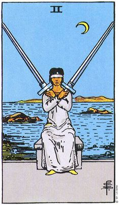 Two (II) of Swords - Painful Decisions, Cross Purposes, Stalemate Keywords Mental Decisions, Stressful/Painful Decisions, Cross Purposes , Torn Between Two/Loyalties/Relationships, Stalemate, Fenc...