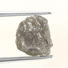 Genuine Diamond Rare Raw Rough Loose Diamond 2.35 Ct Silver Brownish Color