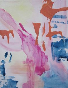 Original 11x14 abstract on canvas left of girly by DesignduMonde