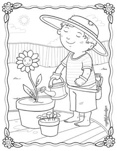 3 drawing coloring pages garden spring crafts 3 kids colouring adult coloring coloring books coloring pages color physical science color sheets Garden Coloring Pages, Spring Coloring Pages, Cat Coloring Page, Flower Coloring Pages, Coloring Pages To Print, Coloring Book Pages, Coloring Sheets For Kids, Printable Coloring Sheets, Adult Coloring