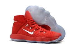 separation shoes 9ef56 7e612 Factory Authentic Nike Hyperdunk 2017 Flyknit Red White Basketball Shoe For  Sale