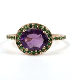 Catbird :: shop by category :: JEWELRY :: Rings :: Delilah Ring, Amethyst and Tsavorite