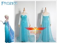 pattern for elsa frozen dress for a girl | Frozen 2013  2013 New Disney Anime Film Frozen Snow Queen Elsa Dress ...