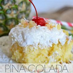 OMG! A cross between my Pina Colada cake and an amazing coconut cake I inherited the recipe for....gotta try it!