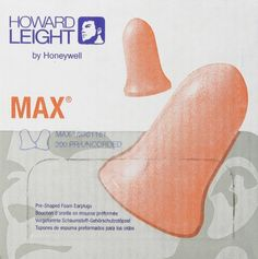 Best Earplugs for Snoring - Howard Leight MAX1 Earplugs Uncorded NRR33 Box/200 (from amazon)