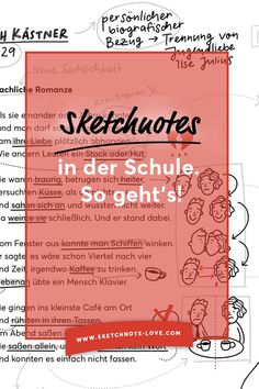 Sketchnotes in der Schule und im Unterricht zum Lernen einsetzen, so einfach geht's! Mit Beispielen und Anleitungen. Workshop, Sketch Notes, Doodles, Bullet Journal, Teaching, Sketchbooks, Inspiration, Apps, Writing On Chalkboard