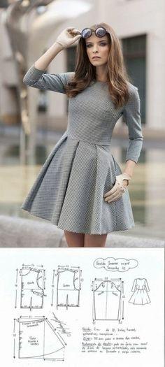 El patrón del vestido de mujer. Las dimensiones de 36-46 euros (la Costura y el corte) | la Revista la Inspiración de la Laborera