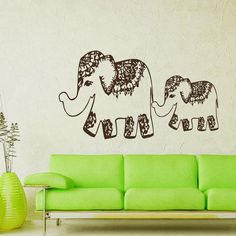 Wall Decals India Elephant Decal Vinyl Sticker Home Art Bedroom Home Decor Interior Design Art Mural Ms227