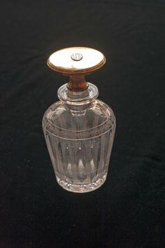 Signed Cartier 14k Gold 1900 Etched Crystal Perfume Cologne Bottle by Gorham | eBay