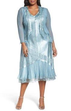 008ffa67bf Plus Size Women's Komarov Lace Trim Jacket Dress Plus Size Party Dresses,  Party Dresses For