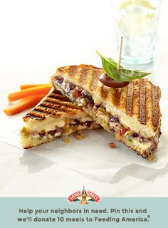 You're never too grown-up for grilled cheese, especially if you dress it up with olive spread. Learn more about Pin a Meal. Give a Meal. and Feeding America® at LandOLakes.com/pinameal. (Pin any Land O'Lakes recipe or submit any recipe pin at LandOLakes.com/pinameal.)