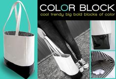 Patent Leather Vinyl Color Block Tote tutorial...looove you Sew4Home !!!!