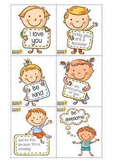 """We got a lovely little set of free lunch box notes to share with you this Friday – as part of our Kindness series of printables and posts for our … Read More """"Free lunch box notes for your kids Kids Lunch Box Notes, Kids Notes, School Pack, School Lunch, Snack Box, Lunch Box Recipes, School Notes, Creative Kids, Quotes For Kids"""