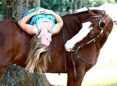 "Horse: ""are you kidding me?""   Girl: ""you know you love me, or you'd have killed me by now!""   Horse: ""okay, you win!"""
