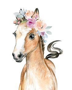 Flowers and Horses Print Design Therapist Bag