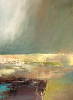 """Abstract Artists International: Contemporary Abstract Landscape Painting """"A Deeper Countenance"""" by Intuitive Artist Joan Fuller"""