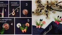 Makasa dolayarak iğne oyası modeli yapımı Hair Accessories, Holiday Decor, Cards, Hobby, Lace, Map, Playing Cards, Hair Accessory, Maps