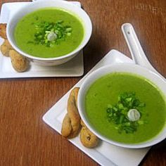 Spring Onion and Peas Soup
