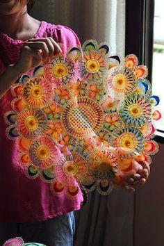 パラグアイに伝わる虹色のレース「ニャンドゥティ」が可愛い♡ - NAVER まとめ