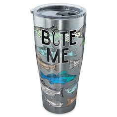Tervis Bite Me Bait 30 Oz. Stainless Steel Tumbler With Lid Multi Diy Tumblers, Personalized Tumblers, Tumblers With Lids, Custom Tumblers, Glitter Tumblers, Yeti Cup, Tumbler Designs, Glitter Cups, Cup Design