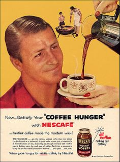 Nescafe Coffee Ad, 1955 by alsis35, via Flickr
