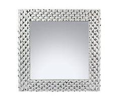 Miroir métal, argenté - 80*80