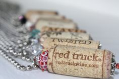 Repurposed Wine Bottle Cork Statement Necklace by HouseofStrause, $10.00